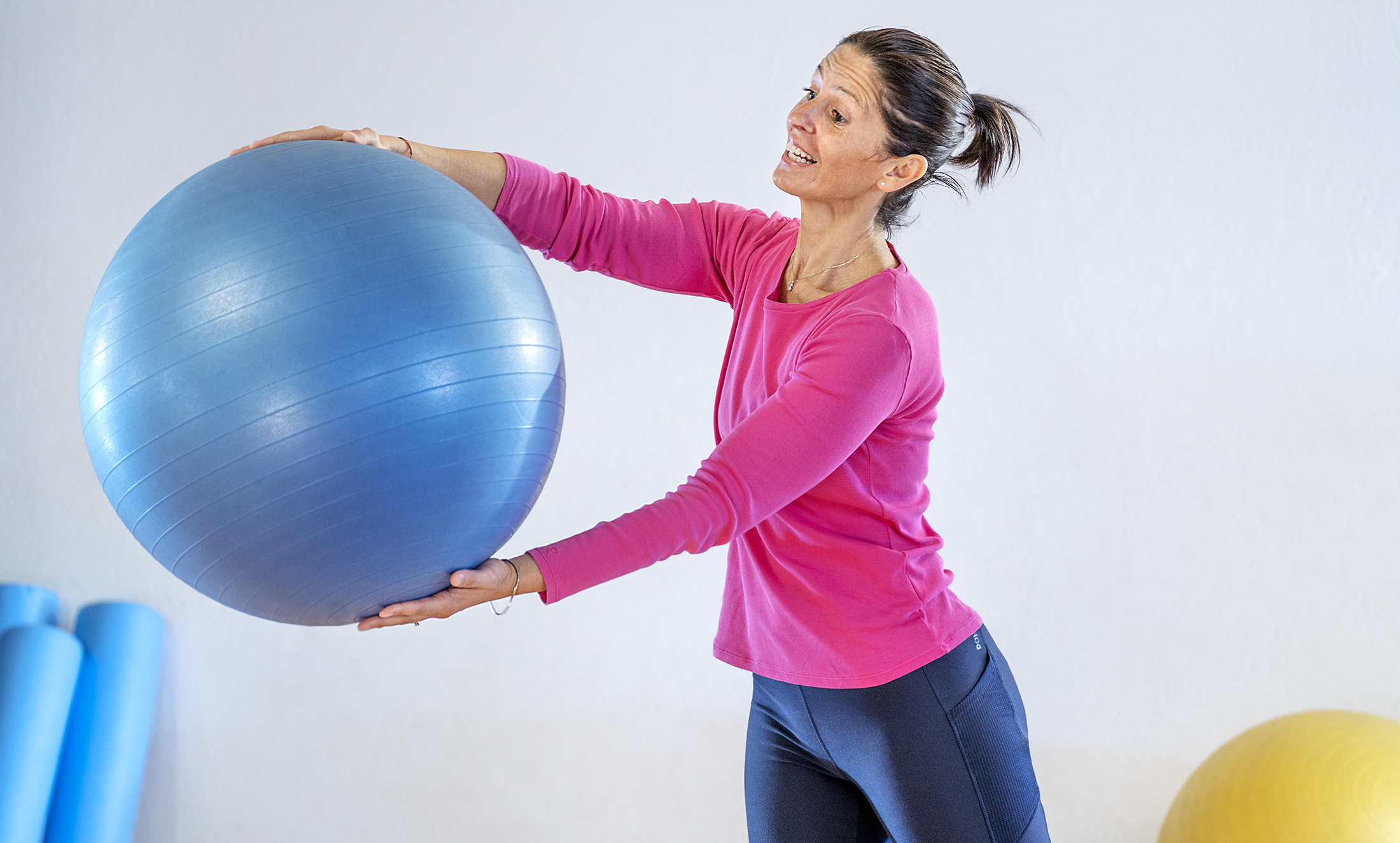 Lezione fitball pilates online